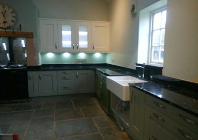 Emerald Pearl Granite and were completed in Warrington